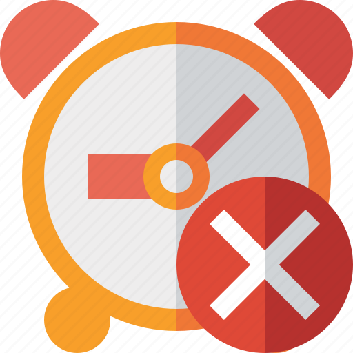 alarm, cancel, clock, event, schedule, time, timer icon