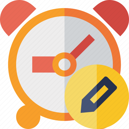 alarm, clock, edit, event, schedule, time, timer icon