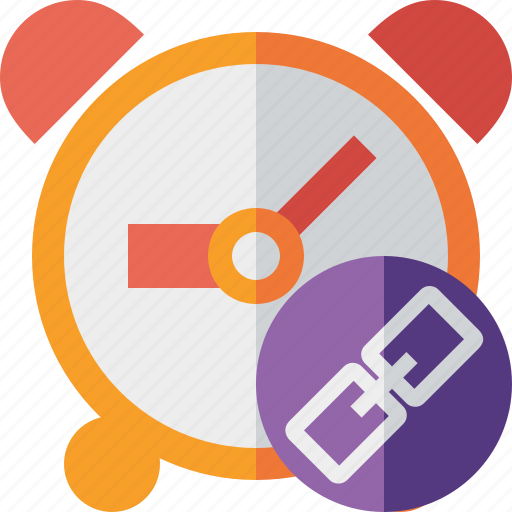 alarm, clock, event, link, schedule, time, timer icon
