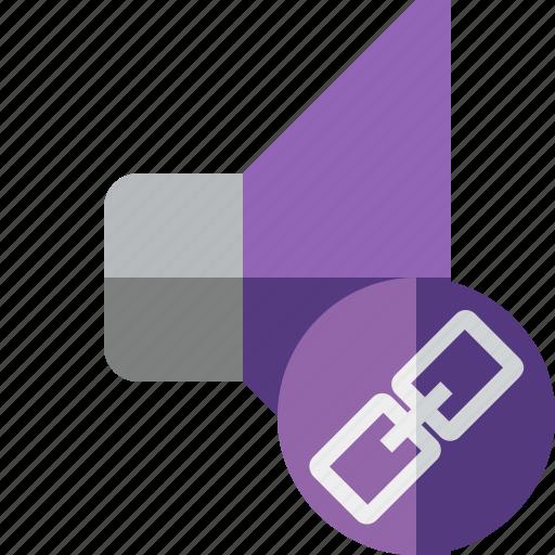 audio, link, music, sound, speaker, volume icon