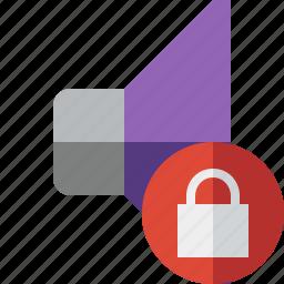 audio, lock, music, sound, speaker, volume icon