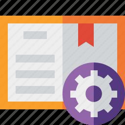 address, book, bookmark, reading, settings icon