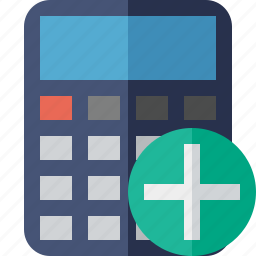 accounting, add, calculate, calculator, finance, math icon