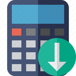 accounting, calculate, calculator, download, finance, math icon