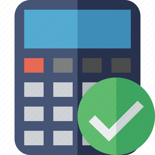 accounting, calculate, calculator, finance, math, ok icon