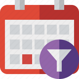 calendar, date, day, event, filter, month, schedule icon