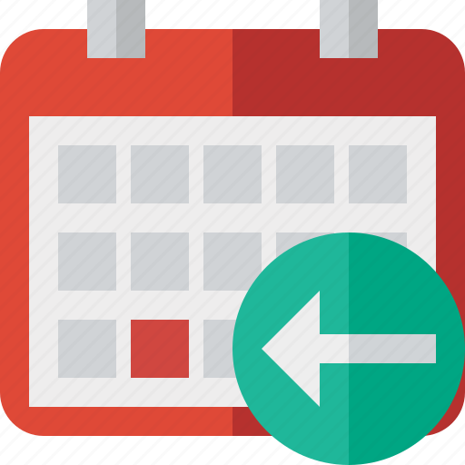 calendar, date, day, event, month, previous, schedule icon