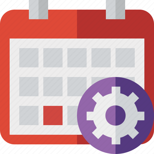 calendar, date, day, event, month, schedule, settings icon