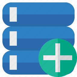 add, data, database, server, storage icon