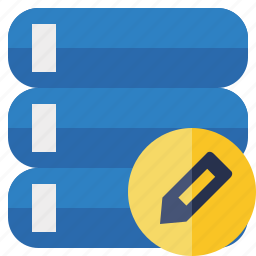 data, database, edit, server, storage icon