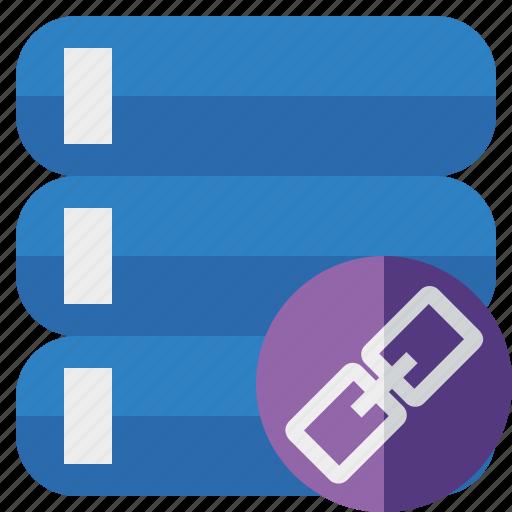 Data, database, link, server, storage icon - Download on Iconfinder