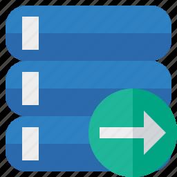 data, database, next, server, storage icon