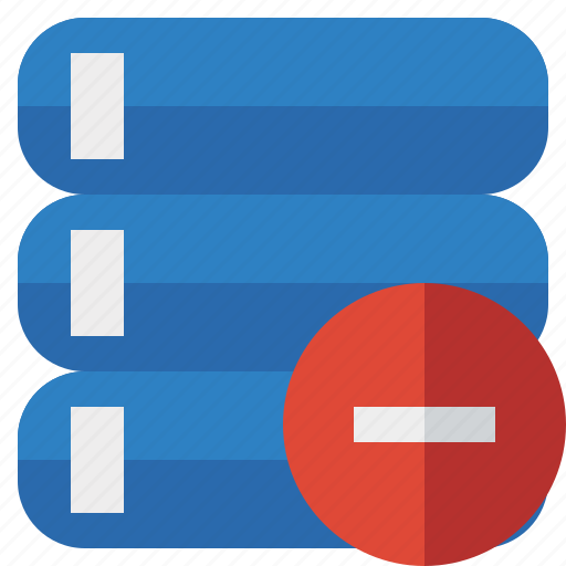 data, database, server, stop, storage icon