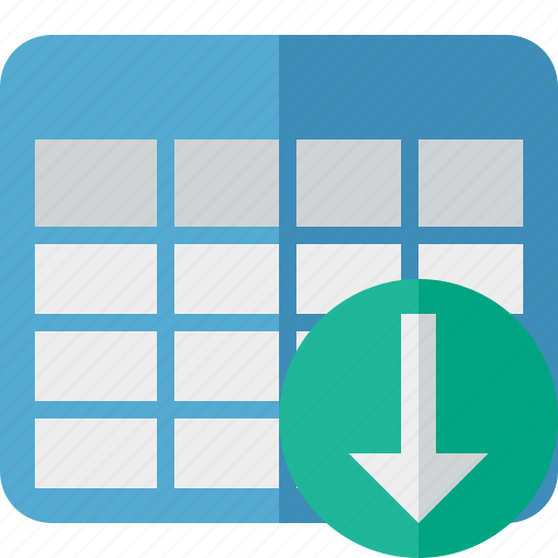 Cell, data, database, download, grid, row, table icon - Download on Iconfinder
