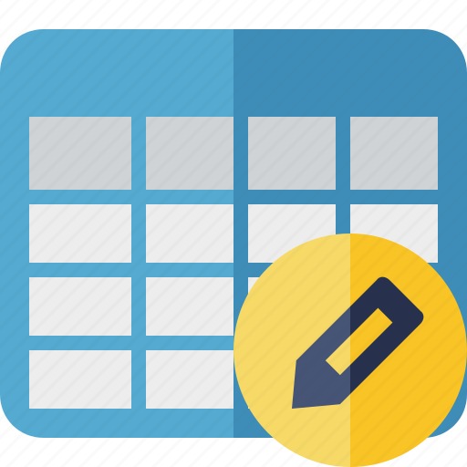 cell, data, database, edit, grid, row, table icon