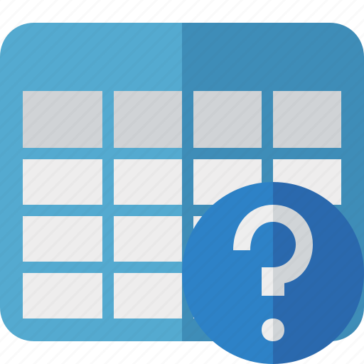 Cell, data, database, grid, help, row, table icon - Download on Iconfinder