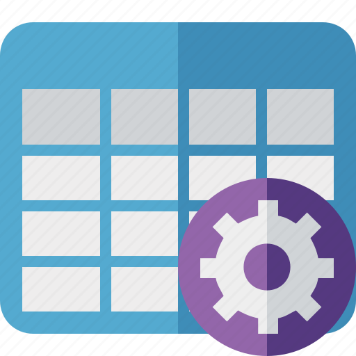 Cell, data, database, grid, row, settings, table icon - Download on Iconfinder