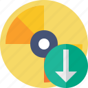 cd, disc, disk, download, dvd icon