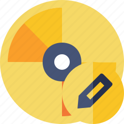cd, disc, disk, dvd, edit icon