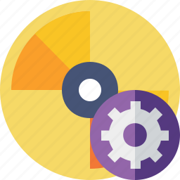 cd, disc, disk, dvd, settings icon