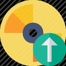 cd, disc, disk, dvd, upload icon