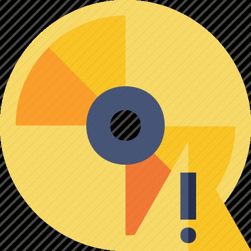 cd, disc, disk, dvd, warning icon