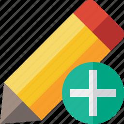 add, draw, edit, pen, pencil, tool, write icon
