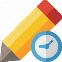 clock, draw, edit, pen, pencil, tool, write icon