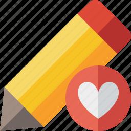 draw, edit, favorites, pen, pencil, tool, write icon