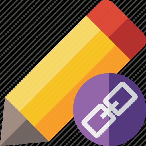 draw, edit, link, pen, pencil, tool, write icon
