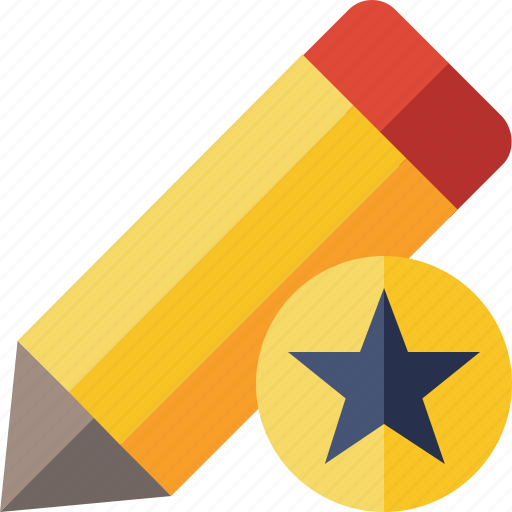 Draw, edit, pen, pencil, star, tool, write icon - Download on Iconfinder