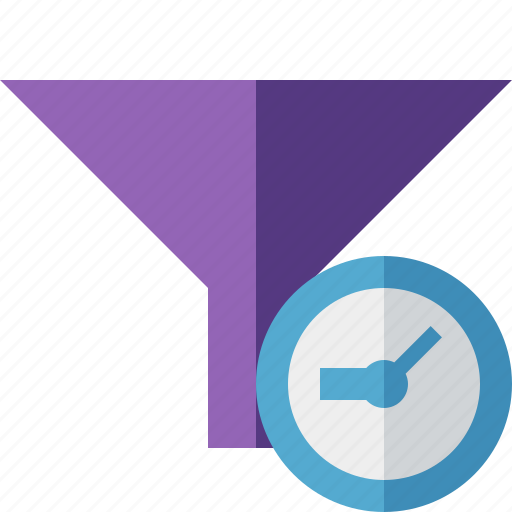 clock, filter, funnel, sort, tools icon