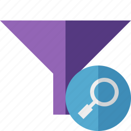 filter, funnel, search, sort, tools icon