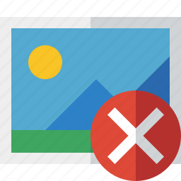 cancel, gallery, image, photo, picture icon