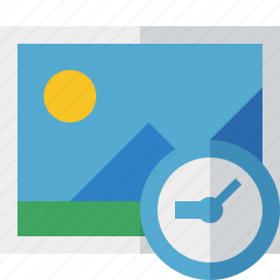 clock, gallery, image, photo, picture icon