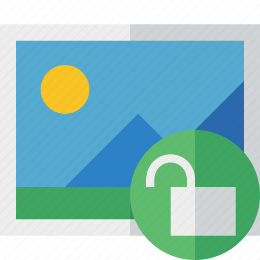 Gallery, image, photo, picture, unlock icon - Download on Iconfinder