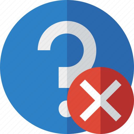 cancel, faq, help, question, support icon