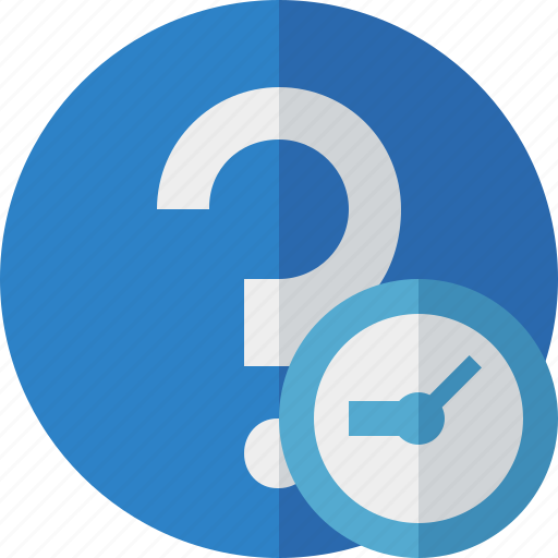 Clock, faq, help, question, support icon - Download on Iconfinder