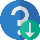 download, faq, help, question, support icon