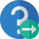faq, help, next, question, support icon