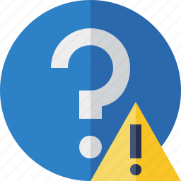 faq, help, question, support, warning icon