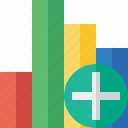 add, analytics, bar, chart, graph, report, statistics icon