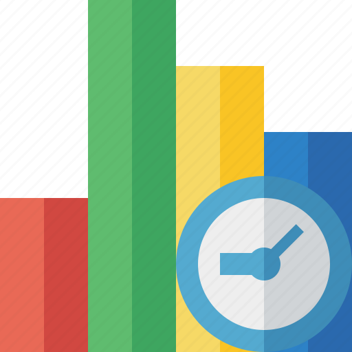 analytics, bar, chart, clock, graph, report, statistics icon