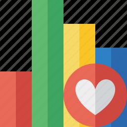 analytics, bar, chart, favorites, graph, report, statistics icon