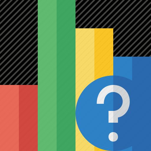 analytics, bar, chart, graph, help, report, statistics icon
