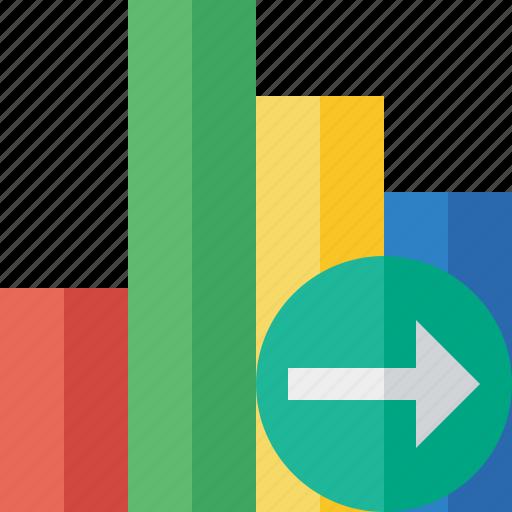 analytics, bar, chart, graph, next, report, statistics icon