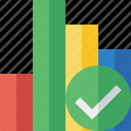 analytics, bar, chart, graph, ok, report, statistics icon