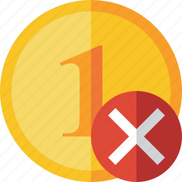 cancel, cash, coin, currency, finance, money icon