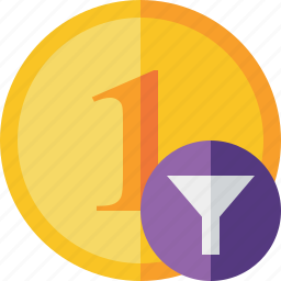 cash, coin, currency, filter, finance, money icon