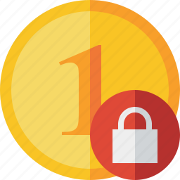 cash, coin, currency, finance, lock, money icon